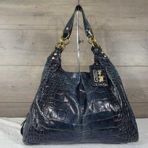 Coach 14325 Madison Croc Embossed Shoulder Bag